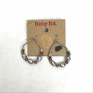 Drop Hoop Beaded Earrings - Ruby Road